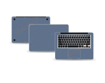 """Macbook Air 11"""" 2nd Gen DECAL Sticker Skin Kit 3M Metal series by Stickerboy-Set 3"""