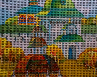 "Needlepoint canvas ""Sergiev Posad.Antiquity.Russia"" (AHN066)"