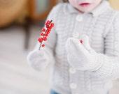 Hand knitted light brown merino wool mittens for children /Toddler mittens/Children wool gloves/Knitted mittens for toddler/for boy,for girl