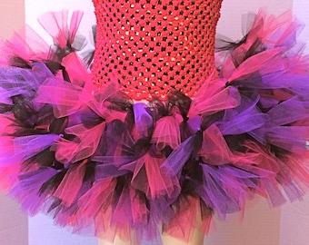 Rock Star Tutu Skirt, Roller Derby Tutu, Pink and Purple Tutu Skirt, Child Tutu, Birthday Tutu Skirt, Punk Rock Tutu, 80's Tutu