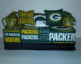 NFL Green Bay Packers Fabric Tissue Box Cover/Kleenex Box Cover, Accessories