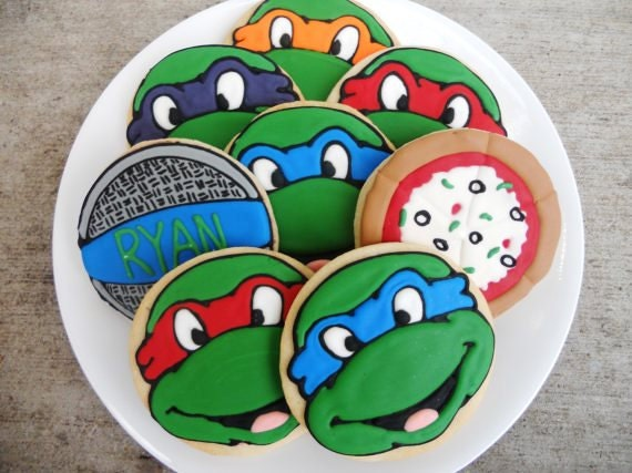 Ninja Turtle-themed cookies!
