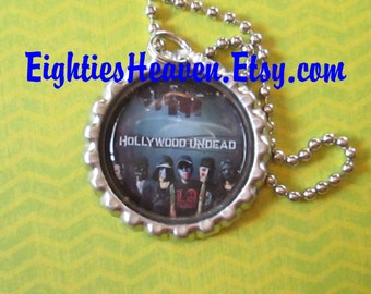 Hollywood Undead Bottle Cap Necklace or Zipper Pull or Key Chain