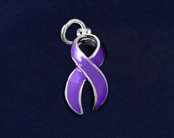 Large Purple Ribbon Charm (RE-CHARM-01-4)
