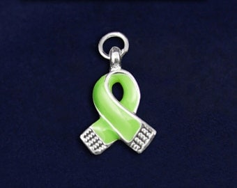Small Lime Green Ribbon Charm (RE-CHARM-06-9)