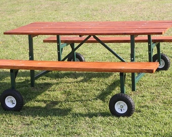 Steel picnic table kit