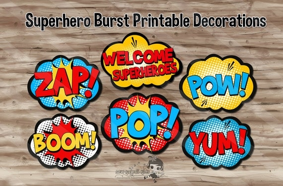 Superhero Burst Party Decorations Superhero Pop Art