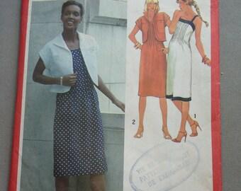 "Sundress and jacket pattern (size 87cm/34"" bust) 1980"