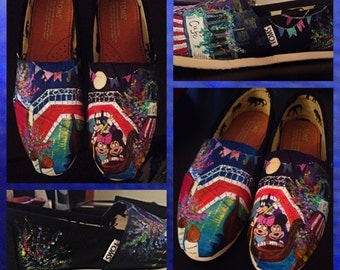 Custom made Minnie & Mickey Toms. Designed and personalized just for you!