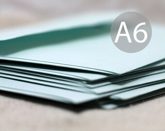 "25 A6 Mint Green Metallic Envelopes - 4x6 envelopes (true size 4 3/4"" x 6 1/2"") - Quantity 25"