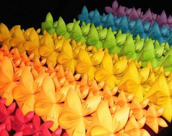 50 Medium Kusudama Origami Flowers - Origami Flower - Wedding Decoration - Party Decoration - Cake Topper - Paper Flowers - Origami