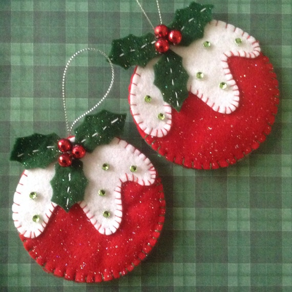 Diy Christmas Ornaments Etsy : Items similar to christmas ornament set of made