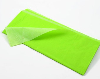 NEON (Green) TISSUE PAPER - Green Neon Fluorescent Tissue Paper (3 Sheets)