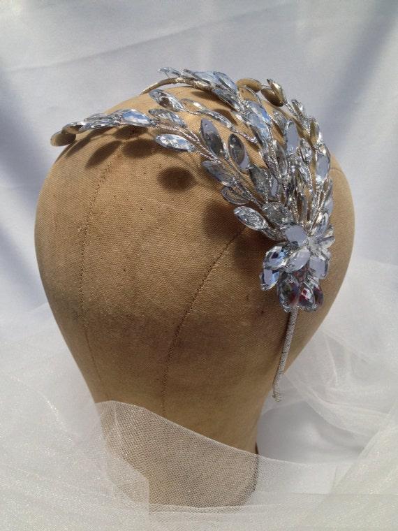 Bridal Tiara, Wedding Tiara, Bridal Headband, Wedding Headband, Crystal Tiara, Bridal Headpiece, Rhinestone Headpiece- ASTRAL Headband