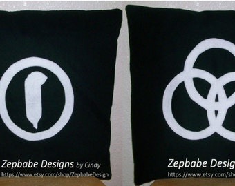 Led Zeppelin Four Symbols Black Pillow Case Set