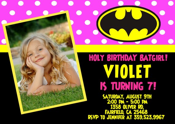 Batman Invitation Wording is awesome invitations template