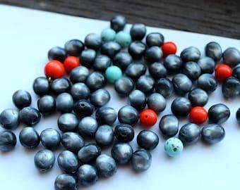 SALE!! LAST ONES!     Vintage Grey Faux PearL Mix