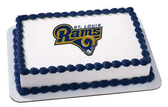 Edible Cake Images Football : St. Louis Rams NFL Football Edible Cake and by ArtofEricGunty