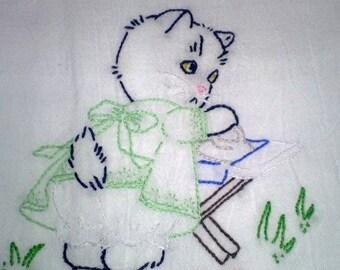 Kitten Chores pattern Tuesday Free Shipping