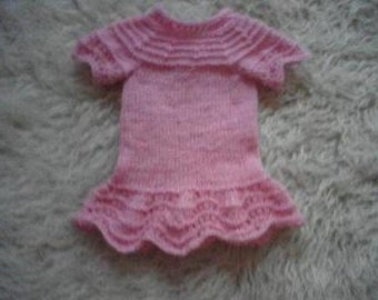 sweet knitted dress for little princesses