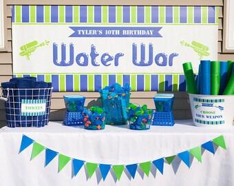 Water War Printable banner 6'