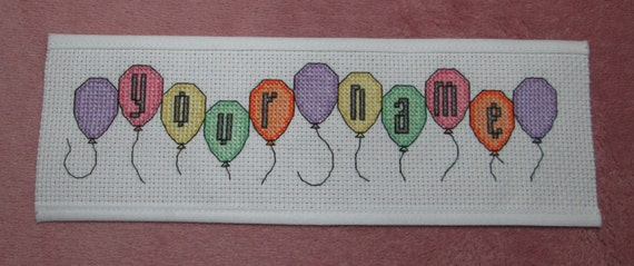 Basket Weaving Supplies Eugene Oregon : Pattern cross stitch bookmark balloons downloadable
