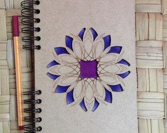 A5 recycled notebook Mandala.