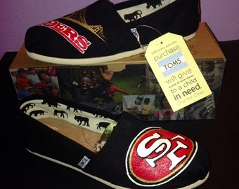49ers Toms with Golden Gate Bridge