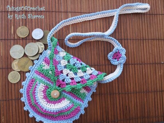 Crochet Bag For Little Girl : Jelly Bean Crochet bag for little girls, design by: Eveline de ...