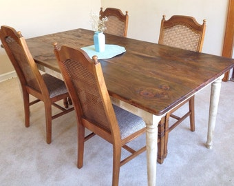 Shabby Chic Farm Table | Rustic Dining Table