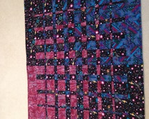 Popular items for outer space quilt on etsy for Space shuttle quilt