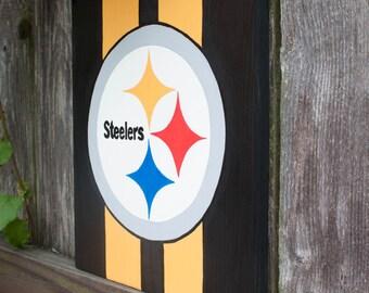 Pittsburgh Steelers Custom Painting on Wooden Board