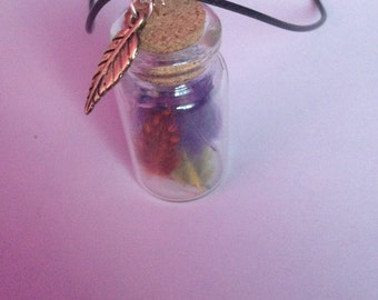 Feather Bottle Choker