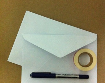 WHITE Envelopes - For 5x7 inches card - Set of 30 - Postcards/Invitiation cards