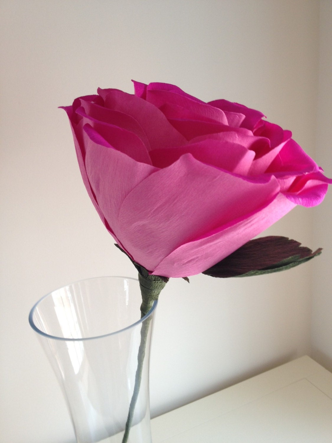 Paper rose a gorgeous extra large crepe paper rose giant paper rose a gorgeous extra large crepe paper rose dhlflorist Choice Image