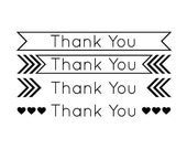 THANK YOU STAMP - Custom Rubber Stamp - custom stamp, thank you stamp, envelope stamp, etsy labels, business card stamp, packaging stamp