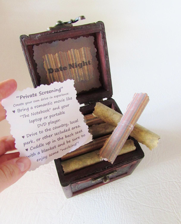 Date Night Idea Box, Boyfriend Birthday Gift, Husband