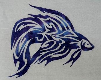 Betta Fish Quilt Applique Pattern Design