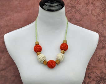Nursing Jewelry - Orange, Khaki, and Green -Teething Beads