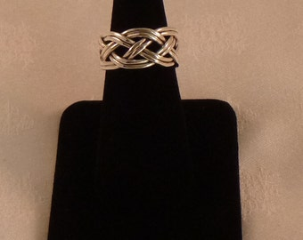 Beautiful Braided Sterling Silver Ring - EB065