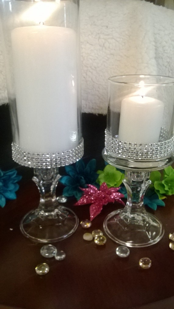 Set Of Six 6 Vases Wedding Centerpiece Bridal Shower
