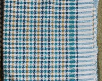 ON SALE! Multi-colored Checkered Cotton Khadi Blanket/ Multicolor ChecksThrow / Eco-Friendly Bedding / Handspun Handwoven Blanket