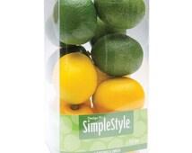"""Design It Simple Decorative Fruit 13/Pkg ~ Mini Lemons and Limes ~ 1-3/4"""" x 1-1/2"""""""