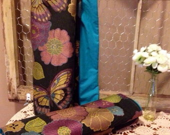 Floral Teal Table Runner