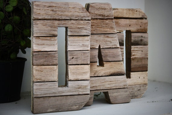 7 inch thin dad letters original reclaimed wood letters ready to ship