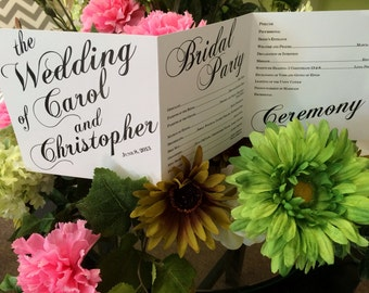 Modern Sophisticated Square Wedding Program