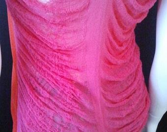 Colour Blocking Shred Art Top