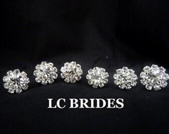 Bridal Hair Pins Rhinestone Crystal