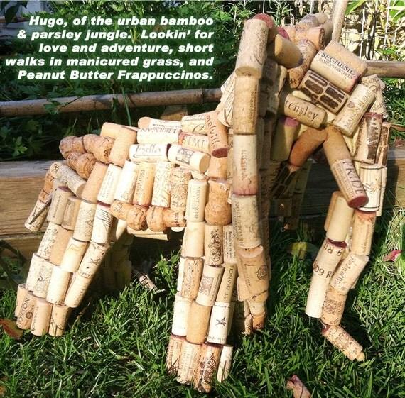 Cork Animals: Items Similar To Elephant Upcycled Wine Cork Animal Statue