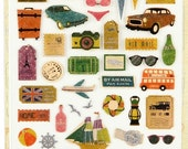 Sticker Vintage voyage / 10942978